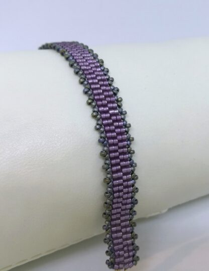 Armband Peyote mattes rosa_1