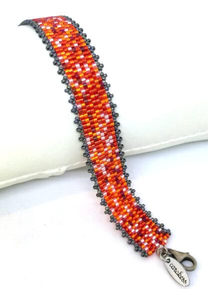 Armband Peyote orange rot_2