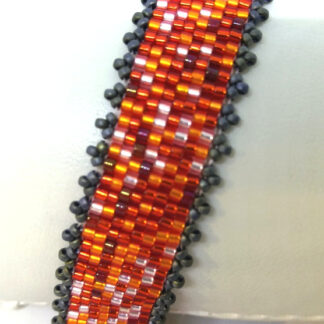 Armband Peyote orange rot_3