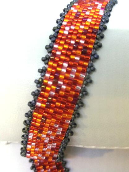 Armband Peyote orange rot_3