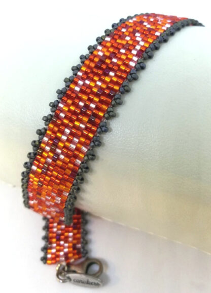 Armband Peyote orange rot_4