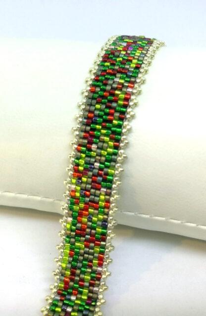 Armband Peyote rot grün_2