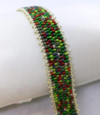 Armband Peyote rot grün_3