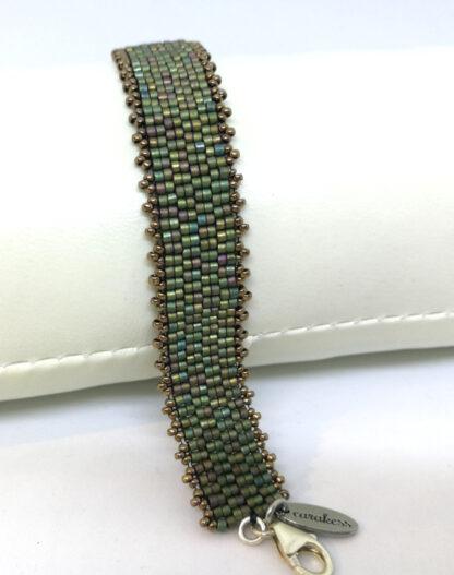 Armband peyote mattes grün_1