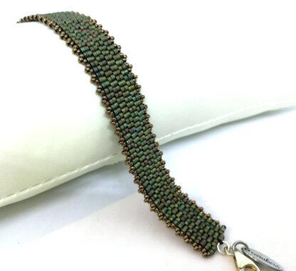 Armband peyote mattes grün_2