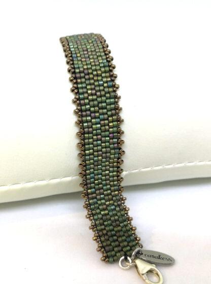 Armband peyote mattes grün_3