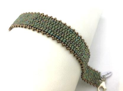 Armband peyote mattes grün_4