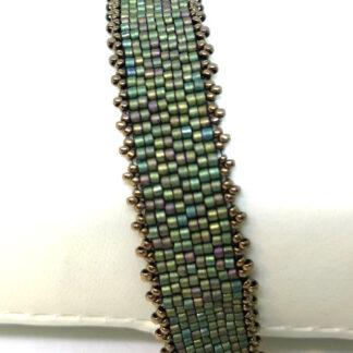 Armband peyote mattes grün_5