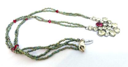 Halskette-Strass-rot-gruen_1
