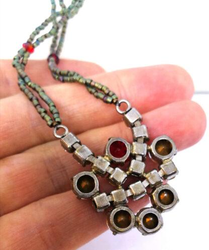 Halskette-Strass-rot-gruen_3