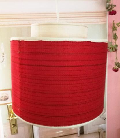 Lampenschirm rot doppelt 1950er_1