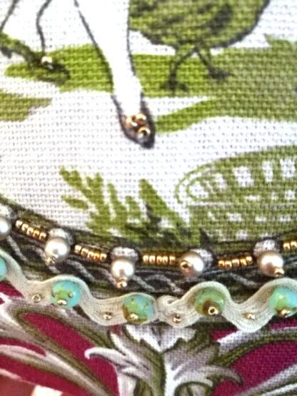 Bordeaux Unikat Romantische Tasche perlenbestickt_6