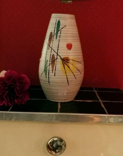 Vase Keramik Malerei 1950er_1