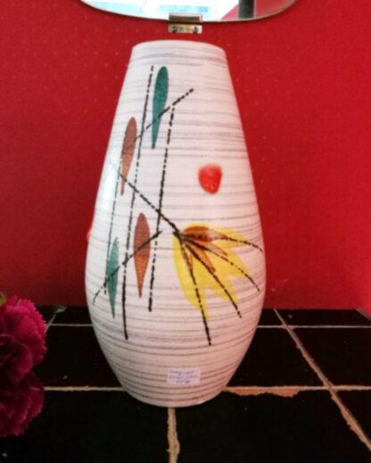 Vase Keramik Malerei 1950er_2