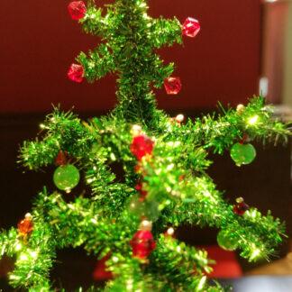 Weihnachtsbaum rot grün Swarovsky