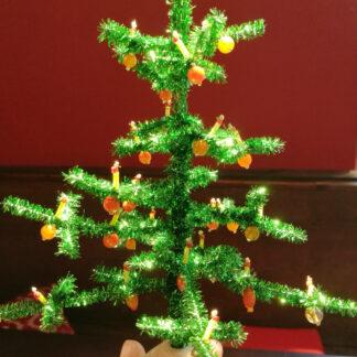 Weihnachtsbaum Kugeln Glasperlen orange