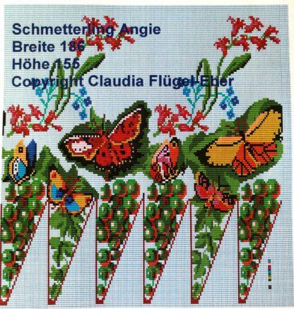 Schmetterling Mustervorlage Perlbeutel Angie