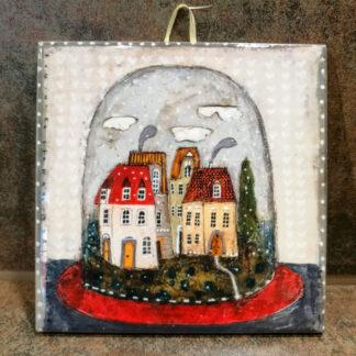 Keramikfliese Kachel Untersetzer Nr.1