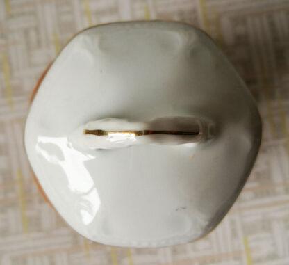 Holzdose Kirsche mit Porzellandeckel Nr.29