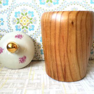 Holzdose Kirsche mit Porzellandeckel Nr.10_3